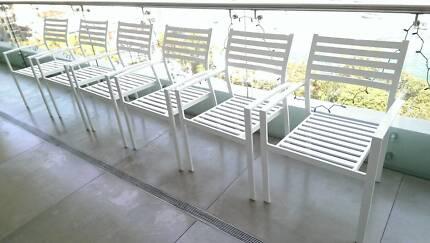 Aluminium indoor &Outdoor Dining Stackable Chairs $380