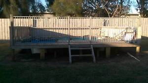Swimming pool and decking / fence Allansford Warrnambool City Preview