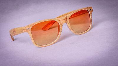 Fashion Imitation Wooden Sunglasses Men Women Imitation Bamboo Retro Sun Glasses
