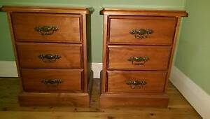Timber bedside table set Lorn Maitland Area Preview