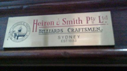 Heiron & Smith Billiard Table