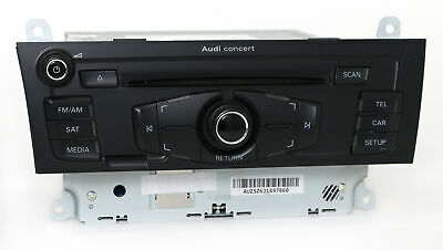 2010-12 Audi A4 AM FM Radio mp3 CD Player Audio System Part Number 8T1035186R