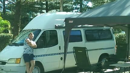 Ford Transit Campervan, 1998, LWB, High Top Birkdale Redland Area Preview
