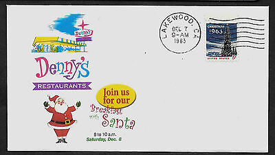 1963 Dennys Breakfast With Santa Claus Special Edt  Collectors Envelope   1033