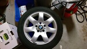Set of 4 Original BMW rims, decent tires, 205/55/r16, $200