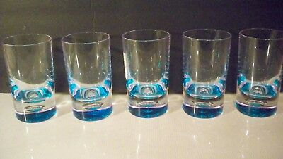 5 BED BATH & BEYOND BUBBLE BOTTOM ACRYLIC DRINKING GLASSES  11 OUNCE  CLEAR W/ B ()