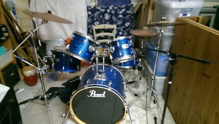 Pearl Acoustic EXR Export Full Drum Kit with Accesories! Karrinyup Stirling Area Preview