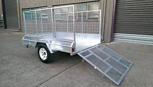 CCT 7×5 900mm Cage+Ramp Fully Welded Hot Galvanized Box Trailer Salisbury Brisbane South West Preview