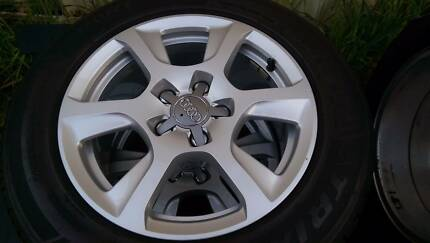 """Audi A4 wheels with good tyres 5x112 16"""" 225/55 R16 Como South Perth Area Preview"""