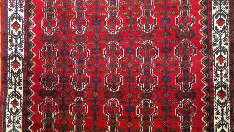 Handsome Hamadan - 1930s Antique Persian Rug - Tribal Carpet - 7.4 X 10.5 Ft.
