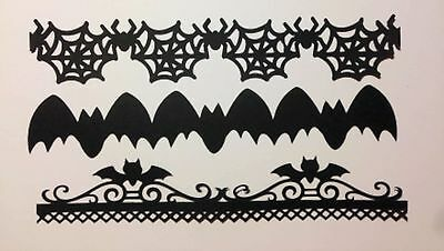 12 DIE CUTS HALLOWEEN BORDERS BATS BORDER, SPIDER BORDER & BAT BORDER (Halloween Borders)