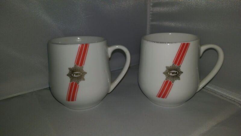 Pair of Vintage TWA Coffee Cups