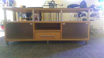 TV Display Cabinet Unit With Glass Top