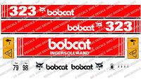 Bobcat 323 Mini Scavatrice Decal Sticker Set Completo - bobcat - ebay.it