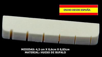 CEJILLA BONE NUT DE HUESO 43mm GUITARRA ROCK ACUSTICA ELECTRICA CUERDAS PUENTE