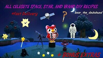 Animal Crossing New Horizons Celeste Star Space and Wand DIY Set 35 TOTAL +Gifts