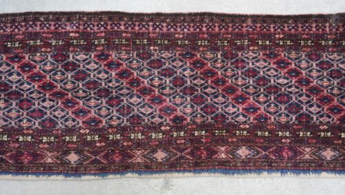 Antique Turkoman Torba Yomud Tribal Hand Knotted Wool Textile Rug 1