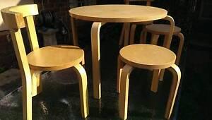 Beautiful 'MOCHA' Kids Table and Chair set Kew Boroondara Area Preview