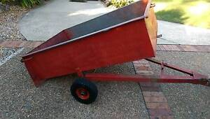 DEAN RIDE ON MOWER TRAILER STEEL HEAVY DUTY TIPPER TIPPING UTV Mount Colah Hornsby Area Preview
