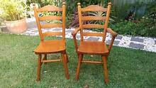 set of 6 timber dining chairs (+2 with arm rests for free) Croydon Burwood Area Preview