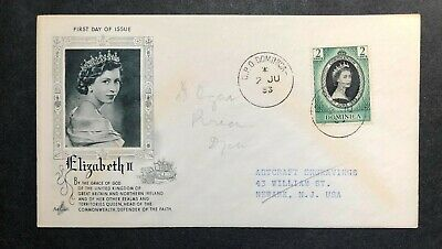 Dominica 1953 Coronation FDC First Day cover