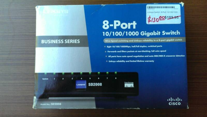 Cisco Linksys Switch 8 Port SD2008 (J0012) | Modems & Routers