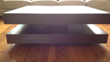 Chocolate timber square coffee table 1m x 1m great look! Mount Lewis Bankstown Area Preview
