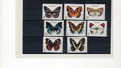 Rwanda 1979 Butterflies Insects Set MNH (ZZ212s