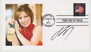 SIGNED-SHANNON-MILLER-FDC-AUTOGRAPHED-FIRST-DAY-COVER-OLYMPIC-GOLD