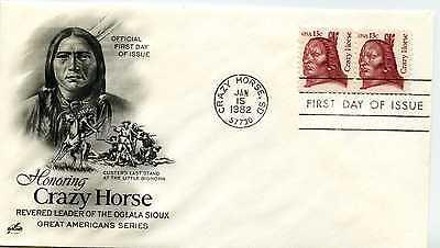 1855 13C CRAZY HORSE ARTCRAFT, FDC