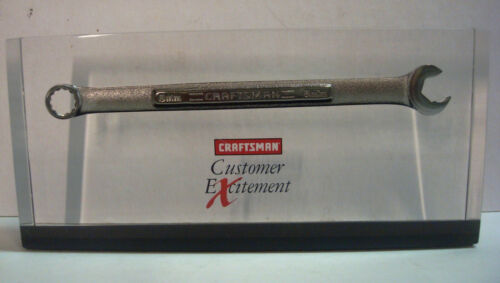 Craftsman Tools Sears Customer Excitement Ratcheting Wrench Lucite Paperweight