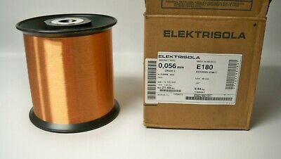 New Elektrisola Estersol E180 43 Awg 0.056mm Copper Magnet Wire 21.69 Lbs.