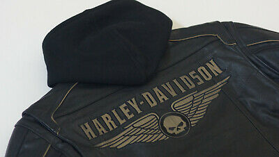 Harley Davidson Men's SOULESS Willie G Skull Leather Jacket 3in1 XL 97026-11VM