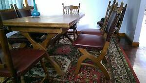 UNIQUE ANTIQUE DINING SUITE - Beautifully crafted, Medieval look Keilor East Moonee Valley Preview