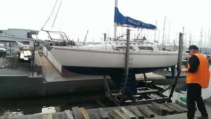 Swap 27Ft Fibreglass Yacht (KNOOP 27) for camper