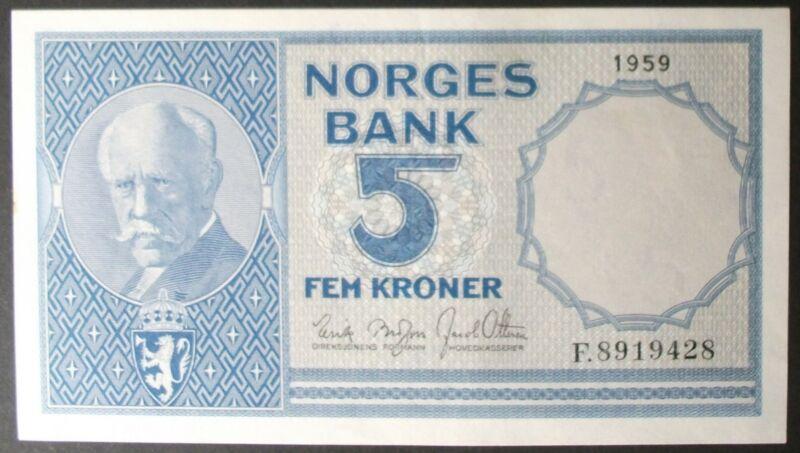 Norway P30e 5 Kroner AU