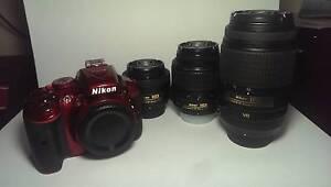 RED NIKON D5300, 3 Lenses + Accessories! Launceston Launceston Area Preview