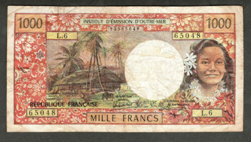 TAHITI ND (1985) 1000 FRANCS NOTE, P27d