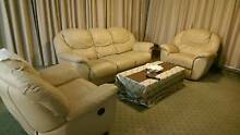 3+1+1 leather recliner sofa lounge couch Spring Hill Brisbane North East Preview