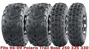 Set 4 WANDA ATV tires 23x7-10 & 22x11-10 96-09 Polaris Trail Boss 250 325 330