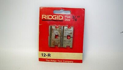 New Nos Ridgid 12-r Replacement 34 In. Alloy Right-hand Pipe Die Set 12r-dc73