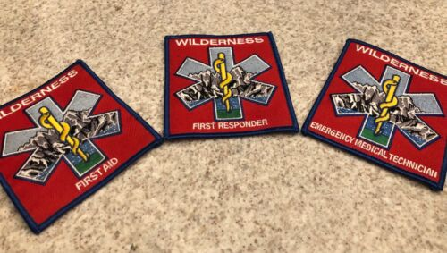 Wilderness First Aid Patch Choose EMT, First Responder or First Aid