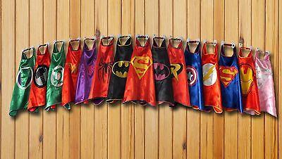 Boy & Girl Super Hero Cape Superman Batman Spider Man Batgirl Supergirl Flash - Boy Super Hero