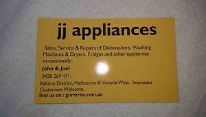 Dishwashers, W-Machines, Fridges Dryers Sales, Repairs, & Service Ballarat Central Ballarat City Preview