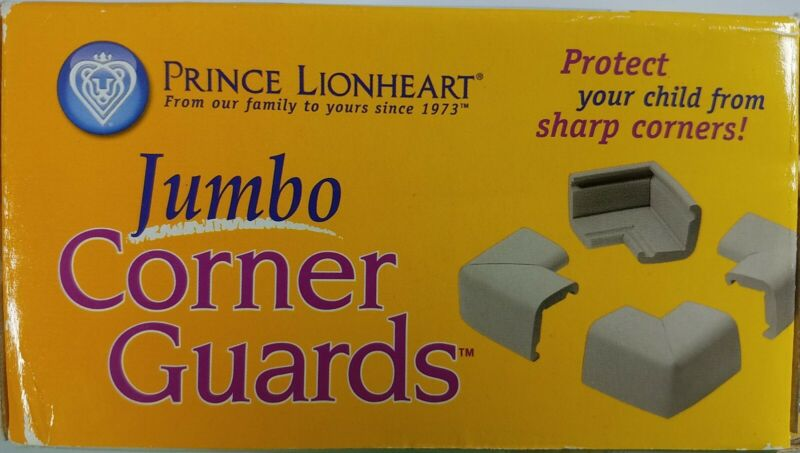 Prince Lionheart Jumbo Corner Guards Grey NOS From Toys R Us
