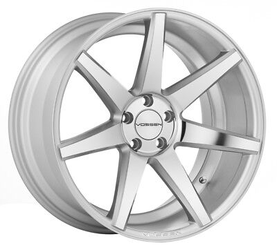 NEW STAGGERED 22x9 22X10.5 5-112 VOSSEN CV7 SILVER W/ POLISHED FACE MERCEDES  for sale  Tempe