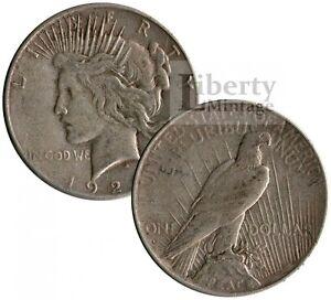 PEACE-DOLLAR-U-S-1-Silver-Coin-Random-Date-VG-XF