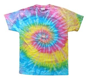 ... LOT OF 50 First Run Hand-dyed TIE-DYE T-SHIRTS in Sizes S to 2X
