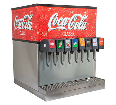 Soda Fountain 8 Flavor Counter Electric Complete System