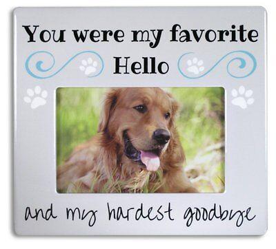 Pet Memorial - Bereavement Commemorative Photo Frame for Dog/Cat/Pet Ceramic